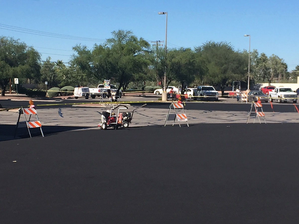 Large Seal Coating and Striping Project in Tucson