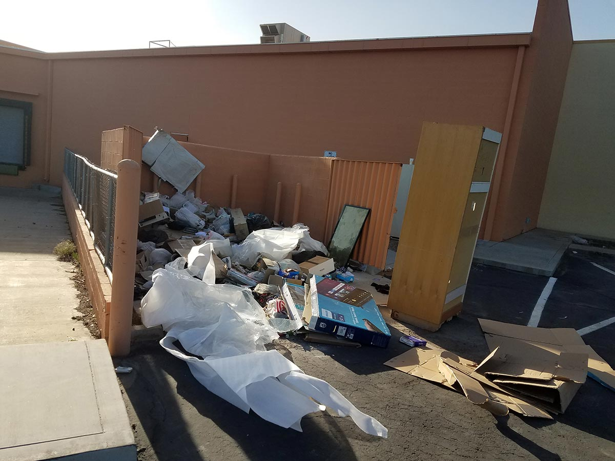 Picking up illegal dumping and graffiti removal